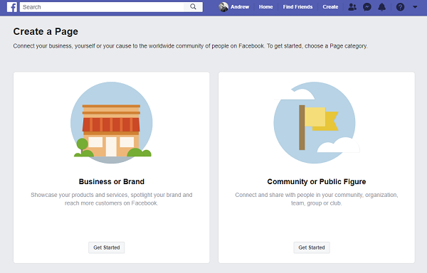 fb biz page set up